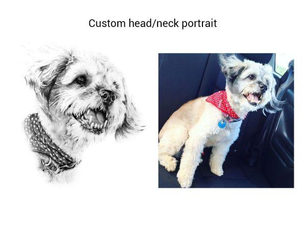 pet memorial portrait