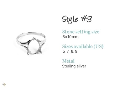 pear shape memorial ring