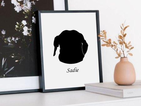 dog silhouette portrait