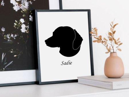 dachshund silhouette print