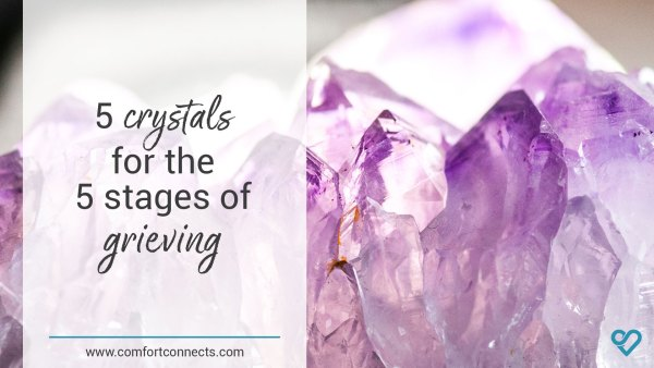 5 crystals for the 5 stages of grieving