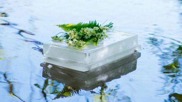 floating ice urn