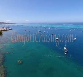 Tahiti Marina Taina Aerial