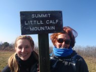 Little Calf summit - mom and Caleigh