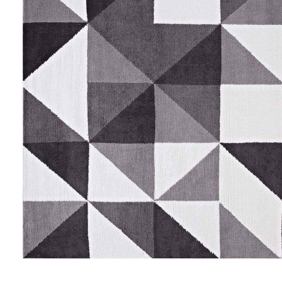 kahula gray black white 8x10 area rug