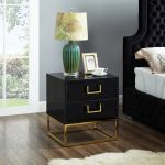 Nova Gold Black Night Stand