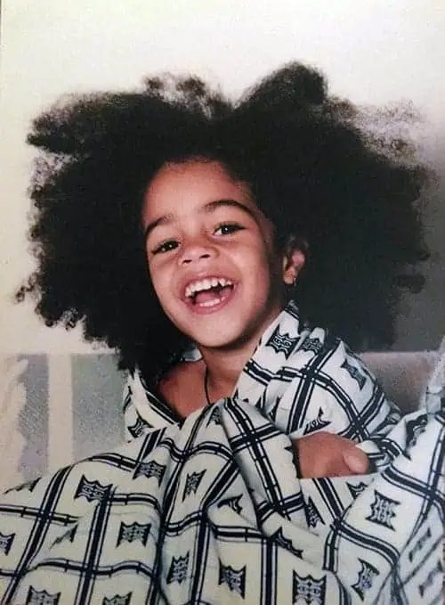 Afro Baby in Blanket