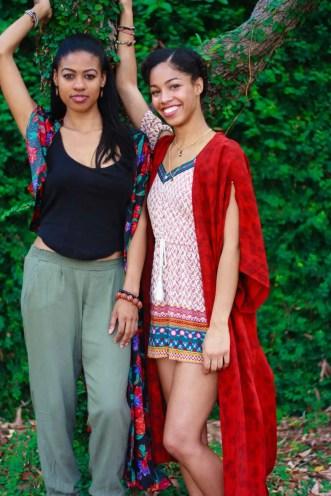 Tilda Kimono | Handmade Kimono Robes | Black Models | Long Distance Friendship