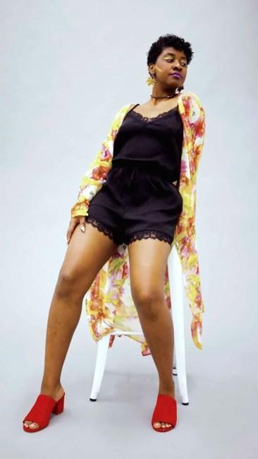 Tilda Kimono | Kimono Robe | Black Designer