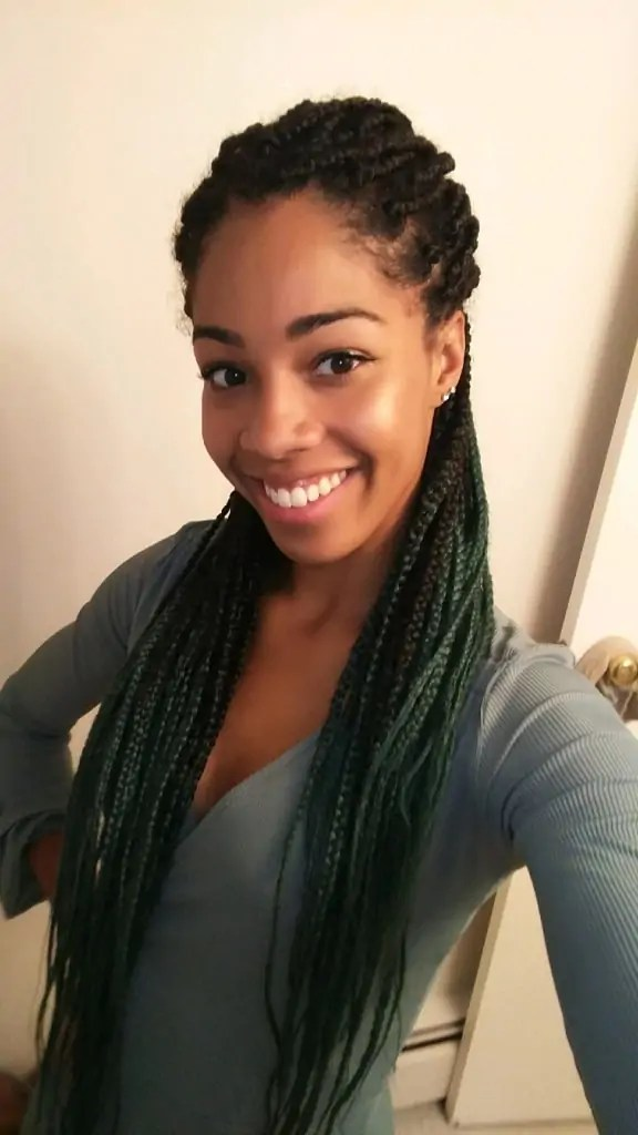 Ombre Box Braids | Protective style for natural hair