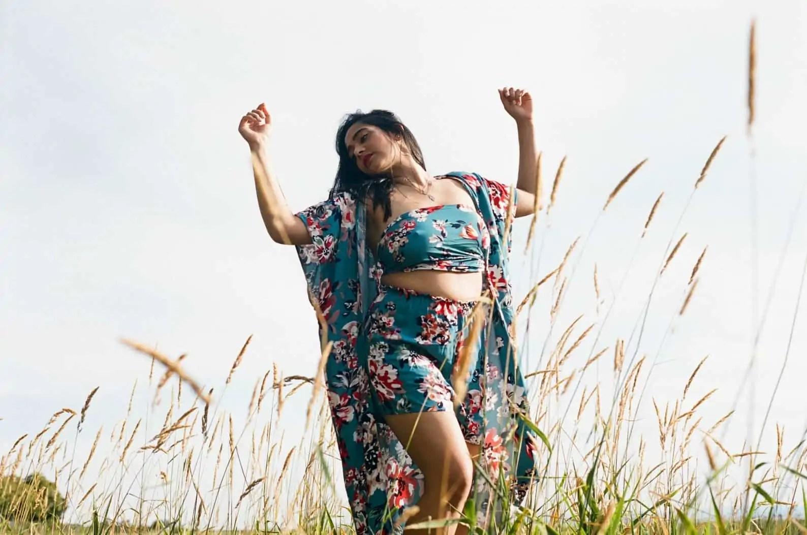 Canadian Black Designer Etsy Shop | Summer Kimono Robe and matching two-piece set