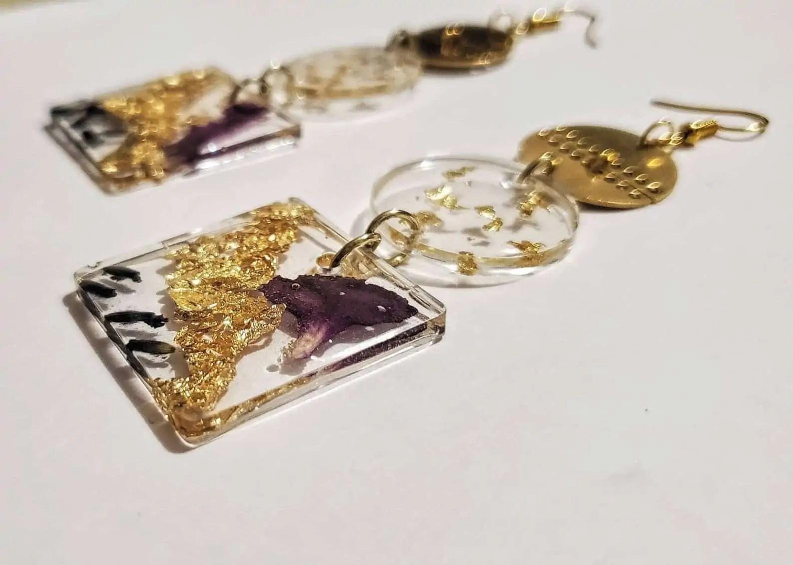 BounceBackJewelry | AVA: Three Tiered Bold Dangle Earring | Canadian Black Owned Etsy Shop