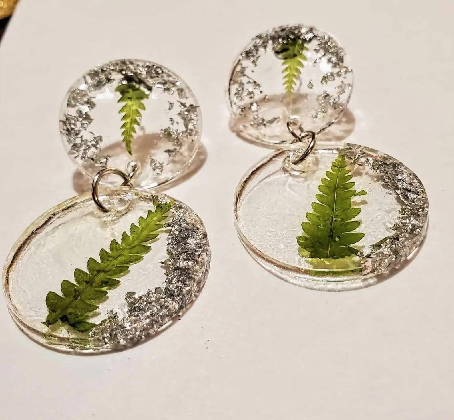 BounceBackJewelry Black Owned Jewelry DAISY: Circle Stud Resin Tiered Dangle Earring