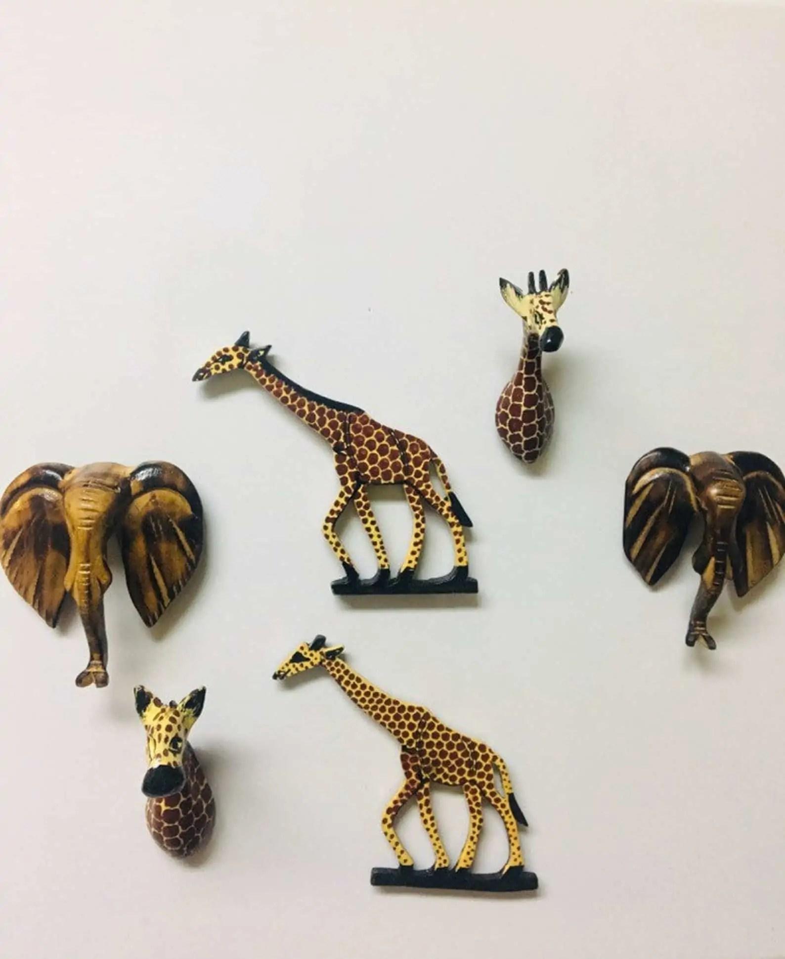 Etsy Shop BaskArts | Fridge Magnets of African Animals