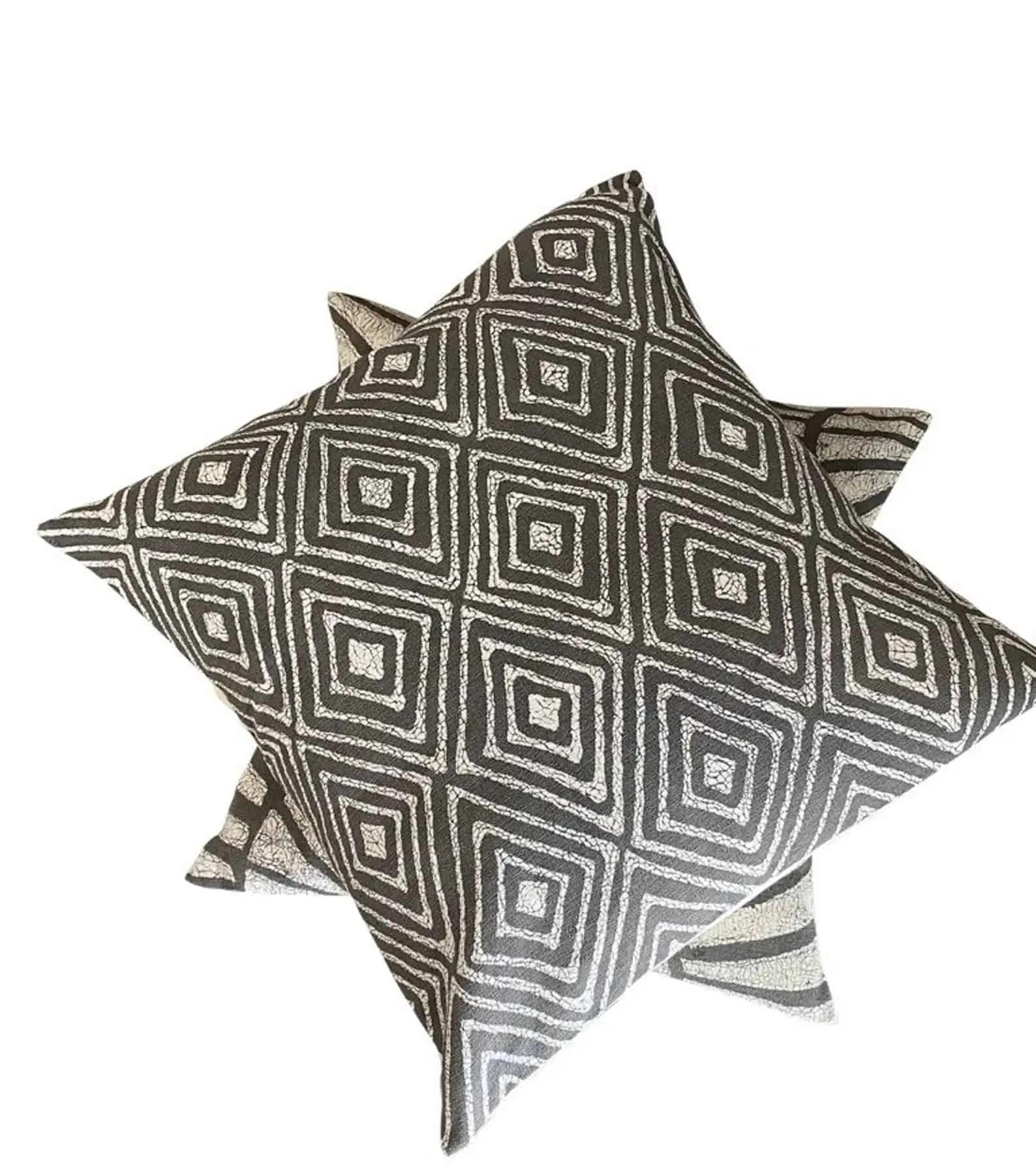 BatiquaGifts Buy Black | Canadian Etsy Shop FairTrade Textiles | African Pillow Cases