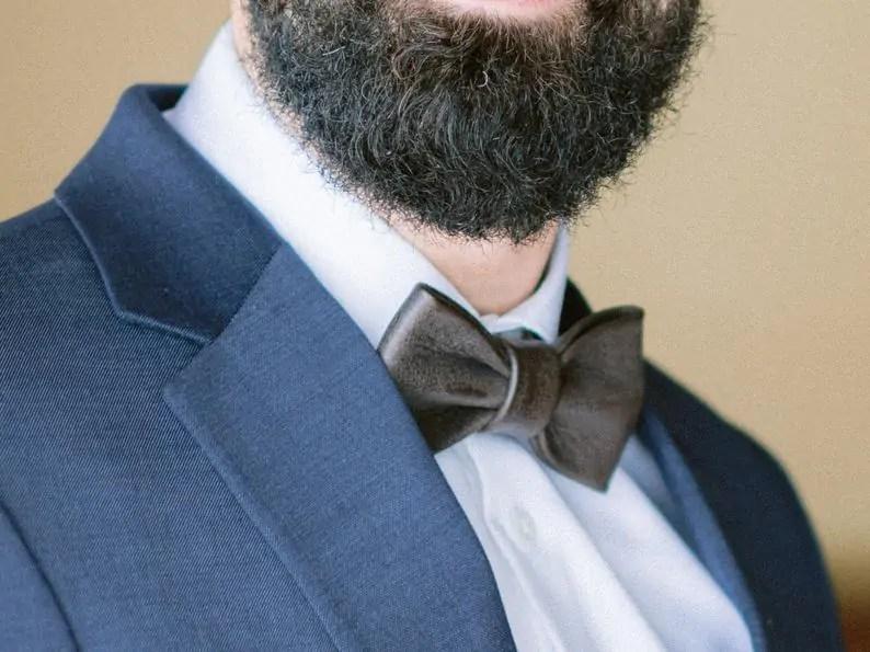 Kingsley Leather gift for men/groomsmen. Leather Bow tie.