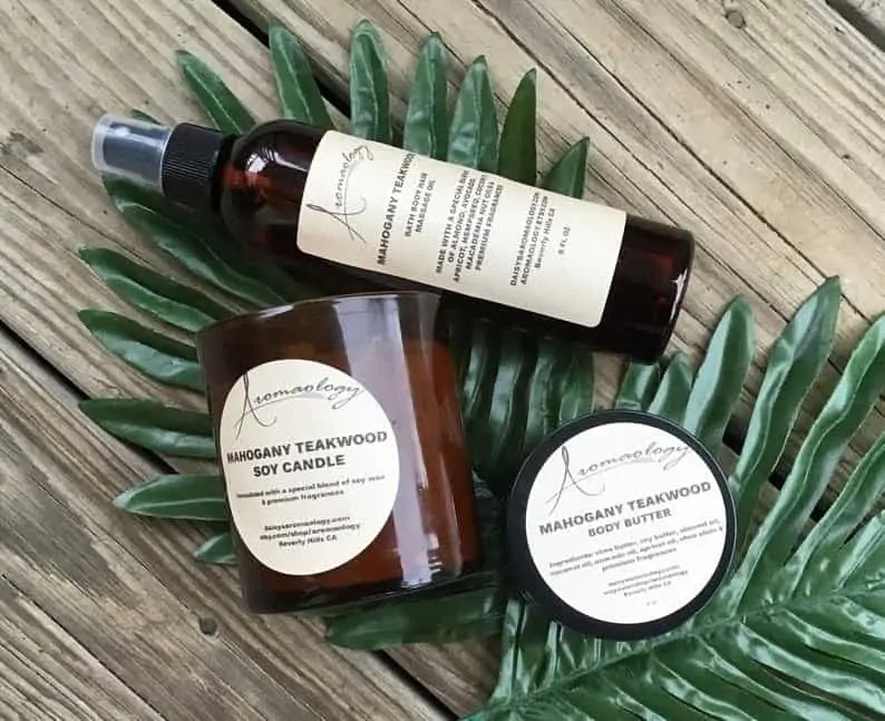 Black-owned Etsy Gifts For Men: Aromaology Bath and body products