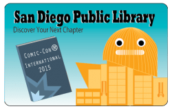 San Diego Public Library 2015 Comic Con Library Card