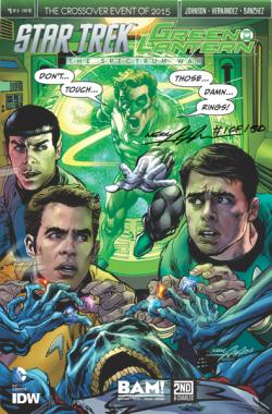 Green Lantern/Star Trek IDW/DC Crossover Comic Book with Neal Adams Cover (signed and numbered) by Neal Adams.
