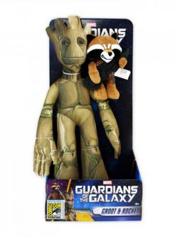 "Marvel Guardians of the Galaxy 17"" Groot & Rocket Raccoon Deluxe Plush Set"