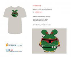 Babee Fett Parody T-Shirt By Fat Rabbit Farm