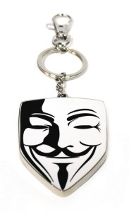 V FOR VENDETTA MASK SNAP KEYCHAIN 183x300 V FOR VENDETTA MASK SNAP KEYCHAIN