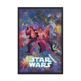 Star Wars Comic Canvas Framed Reproduction Print