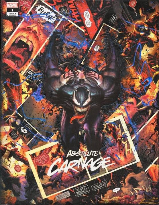 Venom Absolute Carnage #1 Adi Granov Codex Variant – One of A Kind Marvel Comic Book Canvas