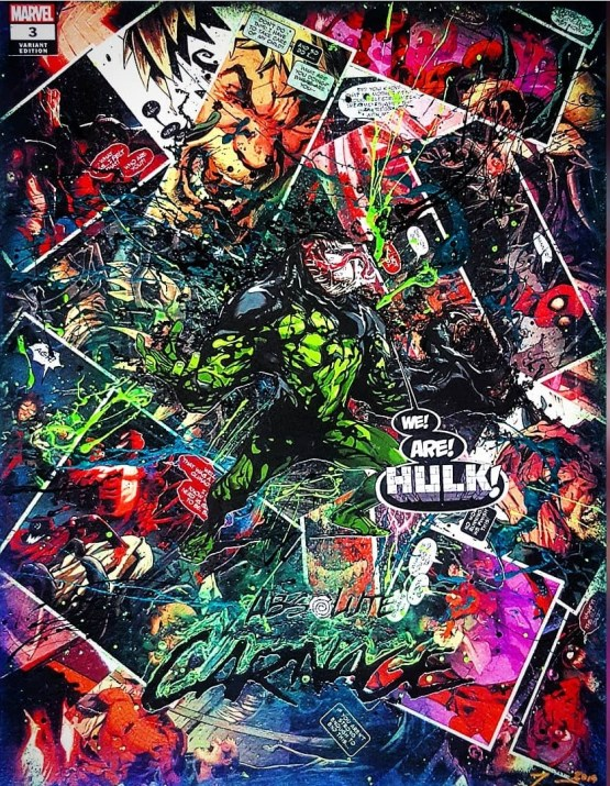 Hulk | Absolute Carnage no. 3 | Young Guns 2019 Variant Cover by Pepe Larrez | The Venomous Hulk | One of A Kind Marvel Comic Book Canvas