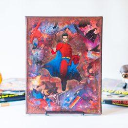 Mon-El | One of A Kind Handmade DC Comic Book Canvas