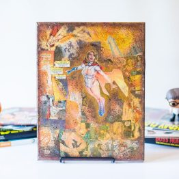 Power Girl | One of A Kind Handmade DC Comic Book Canvas