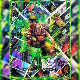 Junkrat | One of a Kind Overwatch Comic Collage Variant Canvas