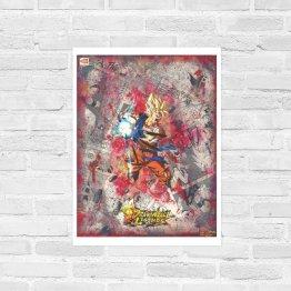Goku | Super Saiyan Dragon Ball Legends Comic Collage Print