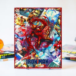 Iron Man Carnagized Variant Cover – One of A Kind Marvel Comic Book Canvas