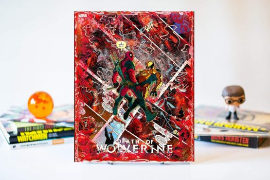 Death Of Wolverine #1 | Cover D Variant Deadpool | Memorial Color Cover | Comic2Canvas Variant Comic Collage Canvas