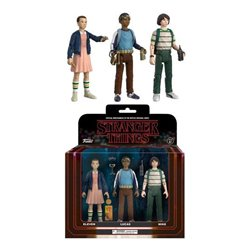 Stranger Things ReAction Pack de 3 Figuras Mike, Eleven & Lukas 8 cm