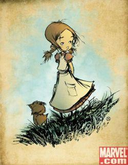 La ilustración de la portada del cómic 1