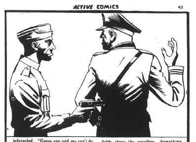 """From Active Comics No. 11 """"He Didn't Like the Army"""""""