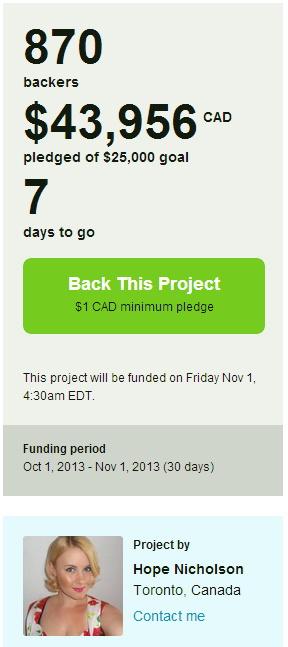 Nelvana Kickstarter