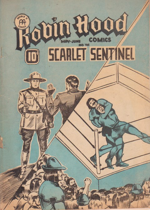 Robin Hood Comics Vol. 2 No. 2 where the Telegram Men of the Mounted strips start to reprint