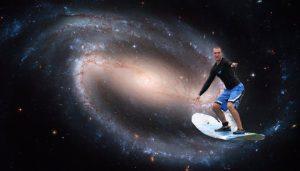 Dave surfing through the cosmos