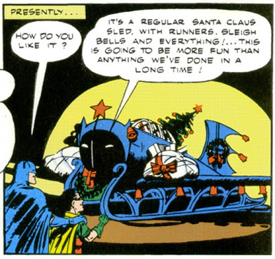 Batman and Robin play Santa Claus for Christmas!