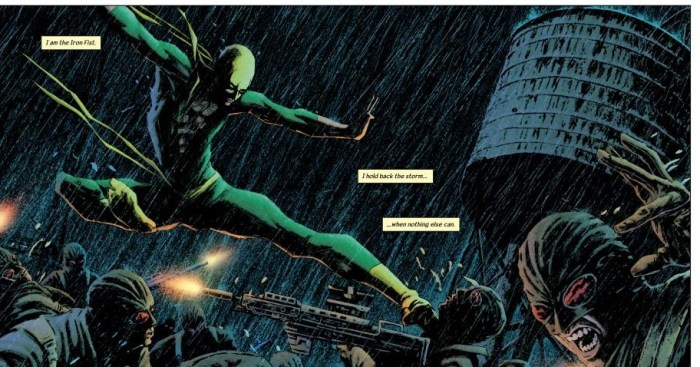 The immortal iron fist comic book art
