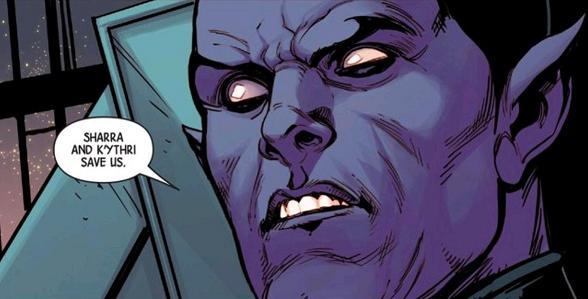 """Say good night, Kallark..."" (Avengers #44. Art by Stefano Caselli)"