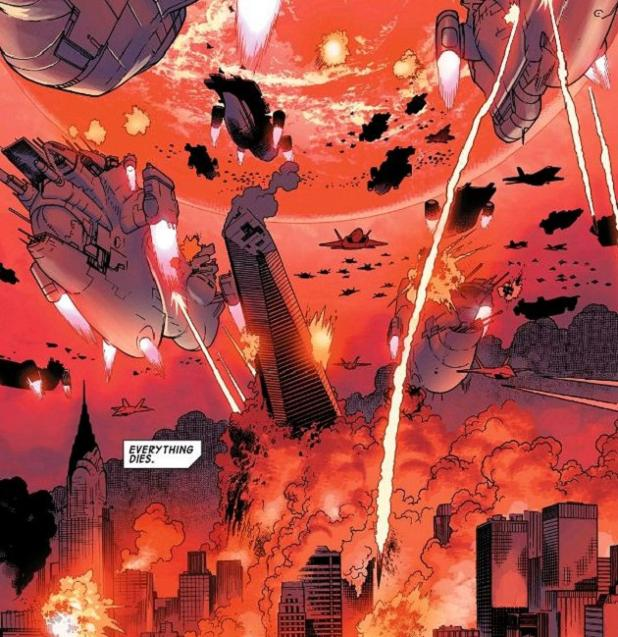 """""""We'll meet again/Don't know where/Don't when..."""" Oh, wait- Secret Wars is next week! There. That was easy..."""