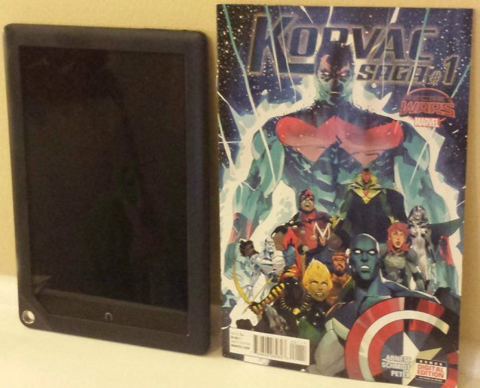 9 inch tablet compared to real life comic book