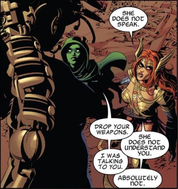 Gamora, the Good Cop.