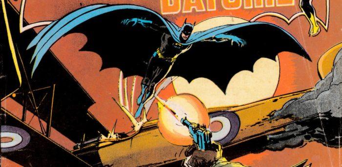 Flying Batman cape comic cover
