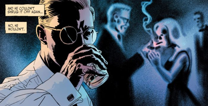 Comic book panel from The Fade Out