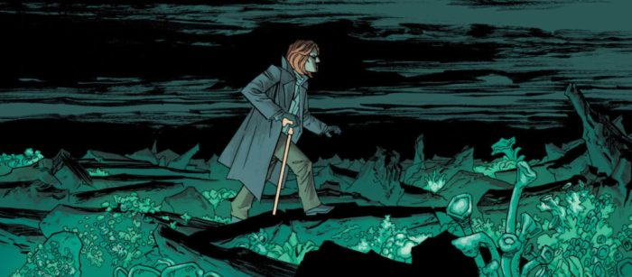 Image Comic book panel from Injection